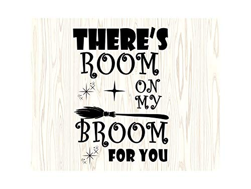 Yetta Quiller Room On My Broom Witch Halloween Cute Quotes for Silhouette Cricut Cutting Vector Clip Art Vinyl Sticker Circuit -