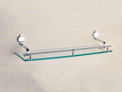 Cloud Power Wall-mounted Single Glass Shelves For Bathroom Single Glass Shelves Brass Single Glass Shelves With Chrome
