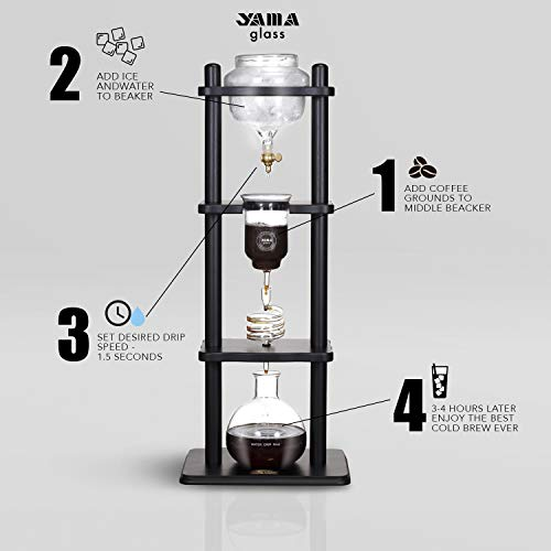 YAMA Glass YAMCDM8CBR, Brown Frame Cold Brew Drip Coffee Maker, 6-8 cup by Yama Glass (Image #7)