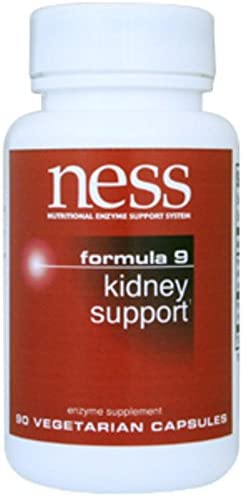 Ness Enzymes – Kidney Support #9 90 caps [Health and Beauty]