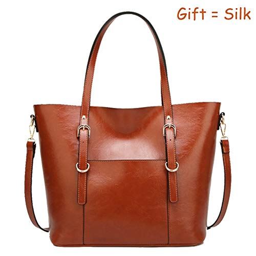 Large Capacity Womens Purses and Handbags PU Leather Shoulder Bag Ladies Designer Tote Top Handle Satchel Handbags, QUEENTOO(B-Brown)
