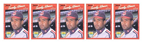 (5) 1990 Donruss Learning Series #40 Sandy Alomar Jr. Baseball Card Lot Indians