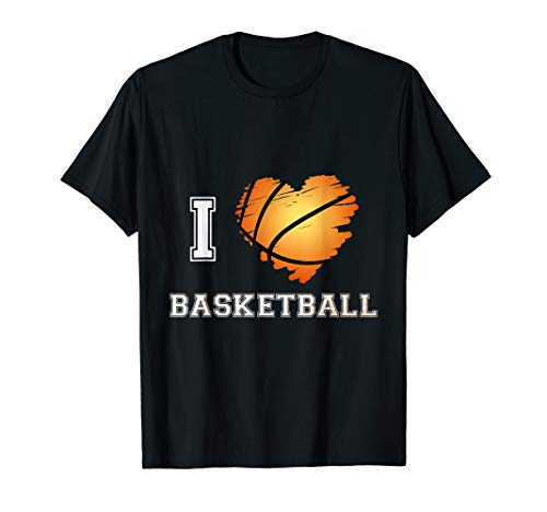 (I Heart Basketball I Love Basketball Sports T Shirt Game)