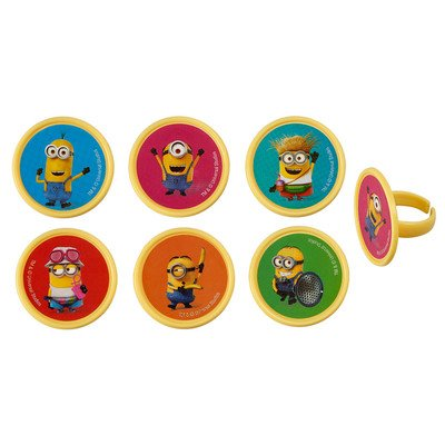 Despicable Me 3 - Mayhem Cupcake Rings - 24 pc -