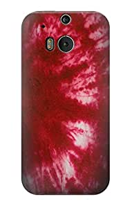 E2480 Tie Dye Red Funda Carcasa Case para HTC ONE M8