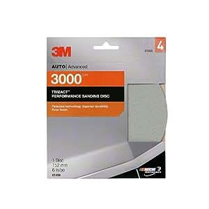 "3M 01459 Trizact 6"" 3000 Grit Performance Sanding Disc"