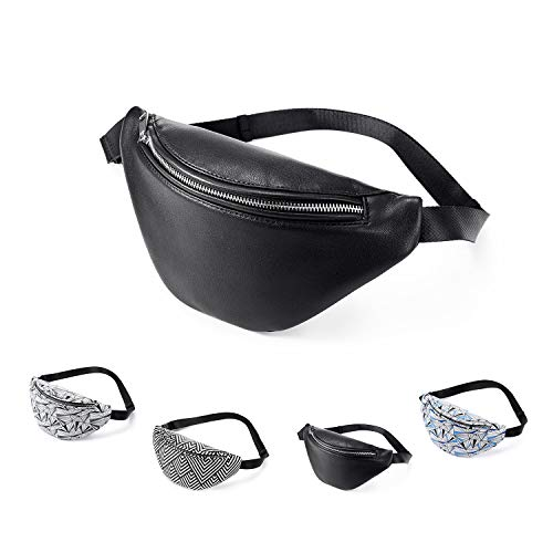 Realer fanny pack for women leather waist bag fashion leather bum bag