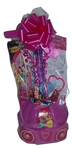 Disney Princess Fun and Activity Basket Gift Bundle Pack with keepsake basket princess activity packs Crayons bubble wand and bracelet ~FAST SHIPPING USA (Printable Halloween Coloring Pages And Activities)