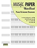 MUSIC PAPER NoteBook - Piano Keyboard Diagrams