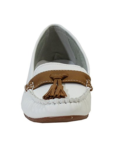 By Shoes -Mocasines para Mujer Blanco