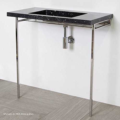 Floor standing stainless steel console stand . Lavatory 5301 and 5301S are sold separately. It must be attached to wall. W: 32 1/2