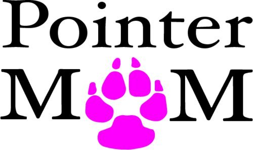 (WickedGoodz Vinyl Pink Paw Pointer Mom Decal - Dog Bumper Sticker - Perfect Pet Owner Gift)