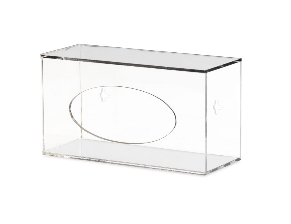 Clearform ML8169 Clear Acrylic Side Loading Glove Dispenser, Benchtop, Vertical, Single