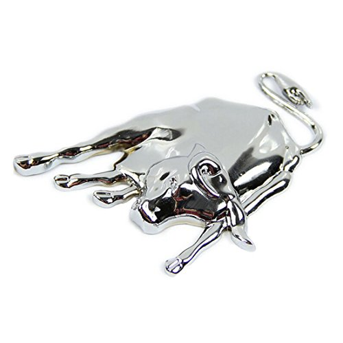 Mirror Metal Bull - Cacys-Store - New 3D Silver Chrome Metal Bull Emblem Car Truck Sticker Decal