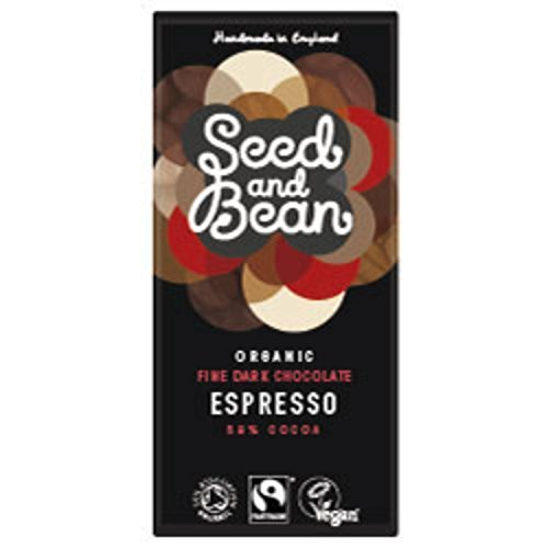 Seed and Bean - Organic Fairtrade Coffee Espresso Dark Chocolate Bar - 85g