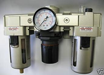 MettleAir AC5000-N06-1PK Filter/Regulator/Lubricator with Gauge, 5000 L/minute, 3/4' NPT 3/4 NPT