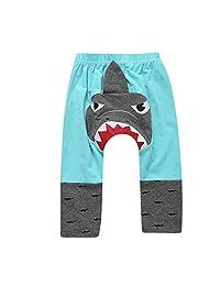 PSFS Newborn Baby Girl Boy 3D Cartoon Shark Pants,Leggings Trousers Outfits