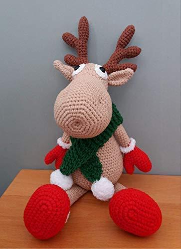 Christmas deer amigurumi pattern | Crochet deer, Christmas crochet ... | 500x363