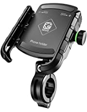 """HUANLANG Bike Phone Mount for Bicycle Cell Phone Holder Handlebars Universal MTB Phone Mount Anti Shake 360° Adjustable Phone Holder for Road Bike/Motorcycle/Scooter Compatible with 3.5""""-7"""" Cellphones"""