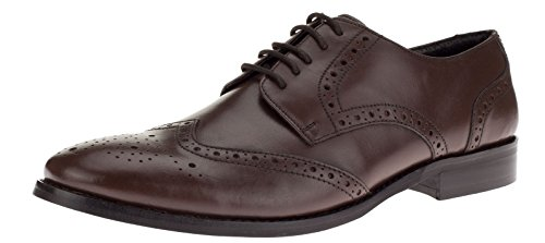 Gino-Valentino-Mens-Leather-Dress-Shoe-Lace-Up-Tyson-Wingtip-Oxford