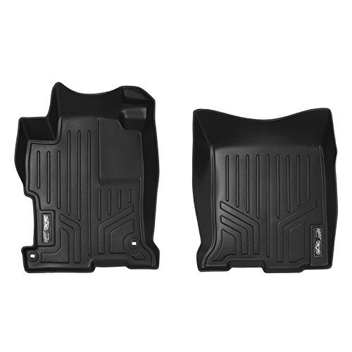 SMARTLINER Floor Mats 1st Row Liner Set Black for 2013-2017 Honda Accord