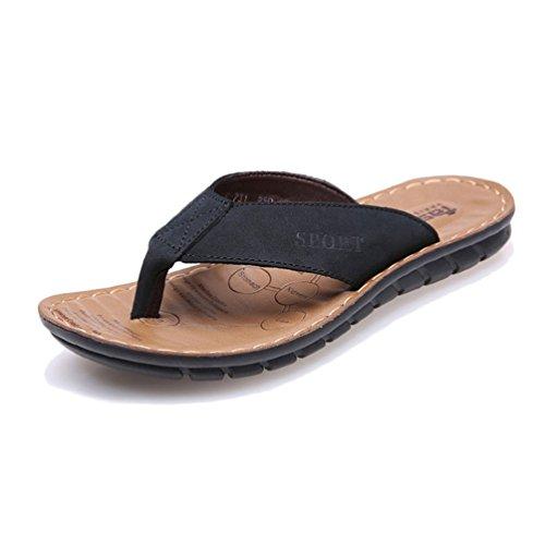 テメリティ障害交じるトングサンダル ビーチサンダル メンズ コルク底 レザー 男性 黒 茶色 カジュアル シューズ ビーサン 革靴 夏 プール アウトドア ブラック ブラウン スエード 鼻緒 速乾 滑り止め 歩きやすい