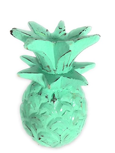 TikiMaster Pineapple Rustic Turquoise 7.5''X4'' Hand Carved Decorative | #mar18t by TikiMaster