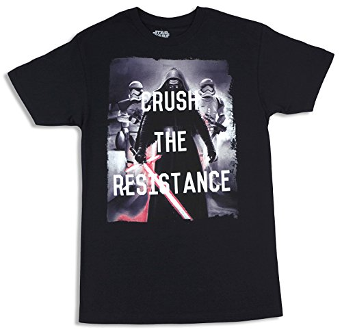 Star Wars Black Crush The Resistance The Force Awakens Mens T-Shirt Medium