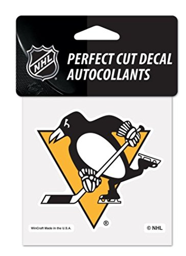 WinCraft NHL Pittsburgh Penguins 4 x 4 inch Color Logo Decal ()