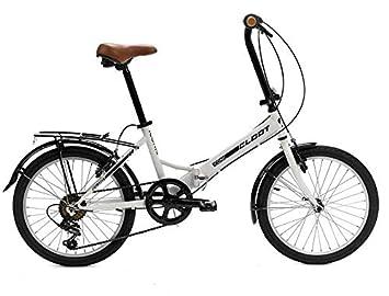 CLOOT Bicicleta Plegable Iconic Blanca - Bicicicletas Plegables Shimano 6V