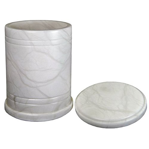 Memorial Gallery ALJ-231-BL Alabaster Stone Radiant Cremation Pet Urn, Full Size