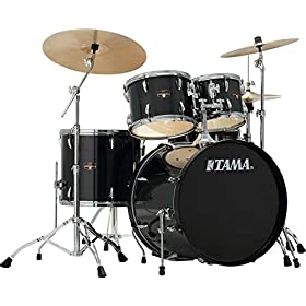 "Tama Imperialstar Complete Drum Set - 5-piece - 22"" Kick - Hairline Black 8"