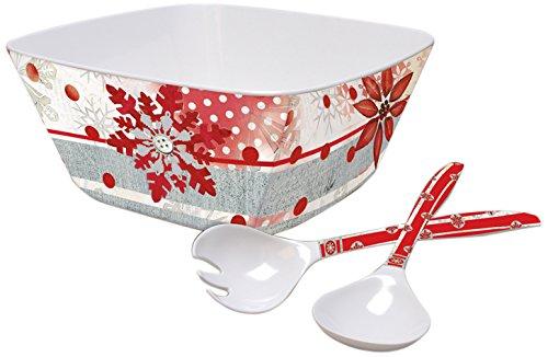 Lisa Dining Collection (Lang Winter Holiday Melamine Large Serving Bowl Set by Lisa Kaus (2106002))