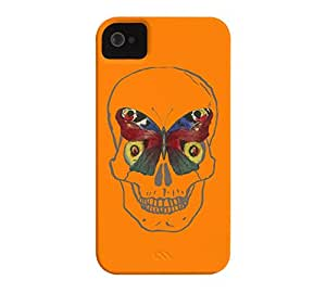 Belleza extremos iPhone 4/4S Apple naranja Barely There Funda - diseño por humanos