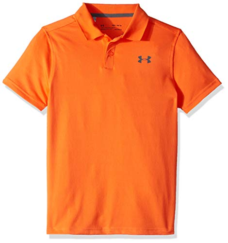 (Under Armour Performance Polo 2.0, Papaya//Pitch Gray, Youth Small)
