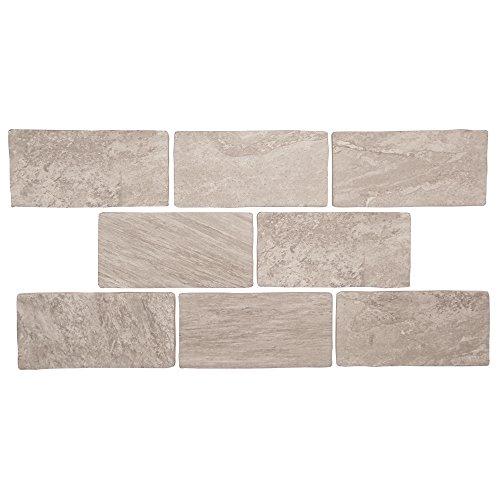 Colorado Twilight - Taupe 3x6 Porcelain Subway Tile - Rustic Backsplash Tile, Wall Tile, Shower Floor Tile (Sample) - Rustic Porcelain Tile