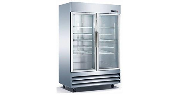 Amazon 54 2 door glass freezer cfd 2ff g stainless steel trim amazon 54 2 door glass freezer cfd 2ff g stainless steel trim led lighting appliances planetlyrics Choice Image