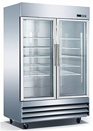 Amazon 54 2 door glass freezer cfd 2ff g stainless steel trim 54quot 2 door glass freezer cfd 2ff g stainless steel trim led lighting planetlyrics Choice Image
