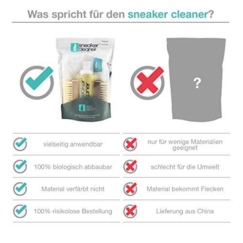 Sneaker Cleaner - kit de nettoyage pour chaussures, 250ml d'agent nettoyant avec 2 brosses pour matériaux sensibles et… 4