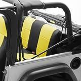 Coverking Custom Fit Seat Cover for Jeep Wrangler TJ 2-Door - (Neoprene, Black/Yellow)