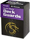 BCW (36) Purple Deck Guard Packs - Trading Card Sleeves - 80 Sleeves per Pack - BCW-DGM80-PUR