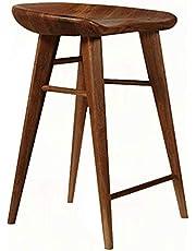 WHOJA Barkruk Moderne Eenvoud Massief Hout Hoge Kruk Ergonomische Ontwerp Keuken Ontbijt Kruk Bar Teller Lager Gewicht 150 kg Hoge 55/65/75 cm Barkrukken Stoelen Set