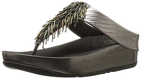 FitFlop Women's Cha, Nimbus Silver, 6 M US