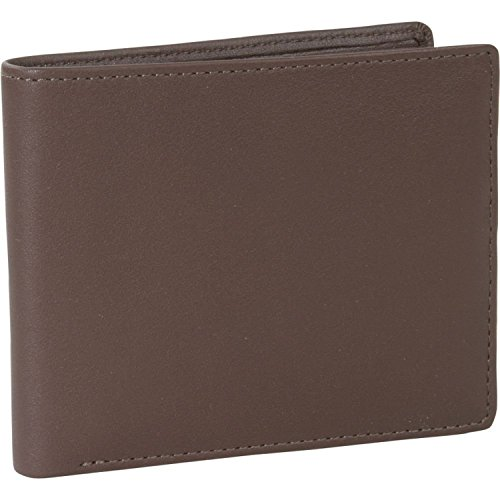 Men's Royce Leather Bi - Fold Wallet with Double ID Flap, COCOA