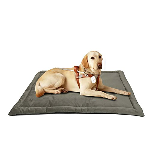 Dog Bed Mat Washable Soft Fleece Crate Pad - Anti-Slip Fleece Kennel Pad for Small Medium Large Pets Mattress by HAOLONGXIANG