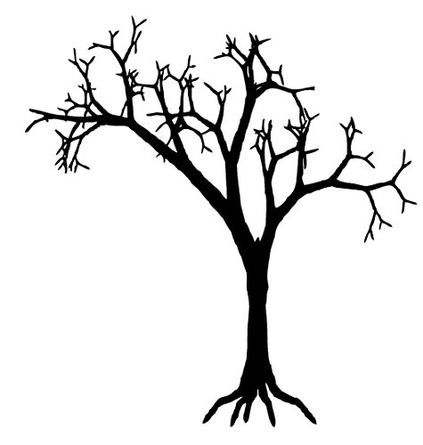 Newclew Tree spooky Halloween Wall Decal Sticker Art Fun Dcor