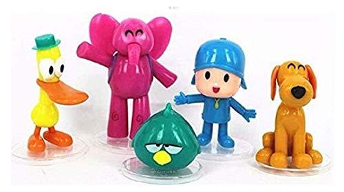 (Wending stanley Pocoyo 5 PCS Action Figures PVC Elly Pato Loula Cake Topper Playset Dolls Kids Toys)