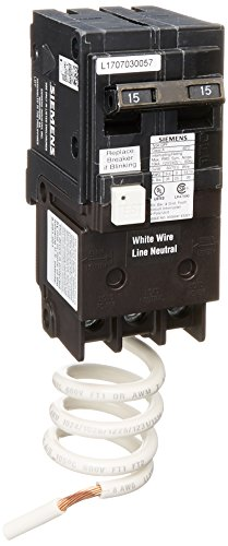 (Siemens QF215A Ground Fault Circuit Interrupter, 15 Amp, 2 Pole, 120V, 10,000 Aic,)