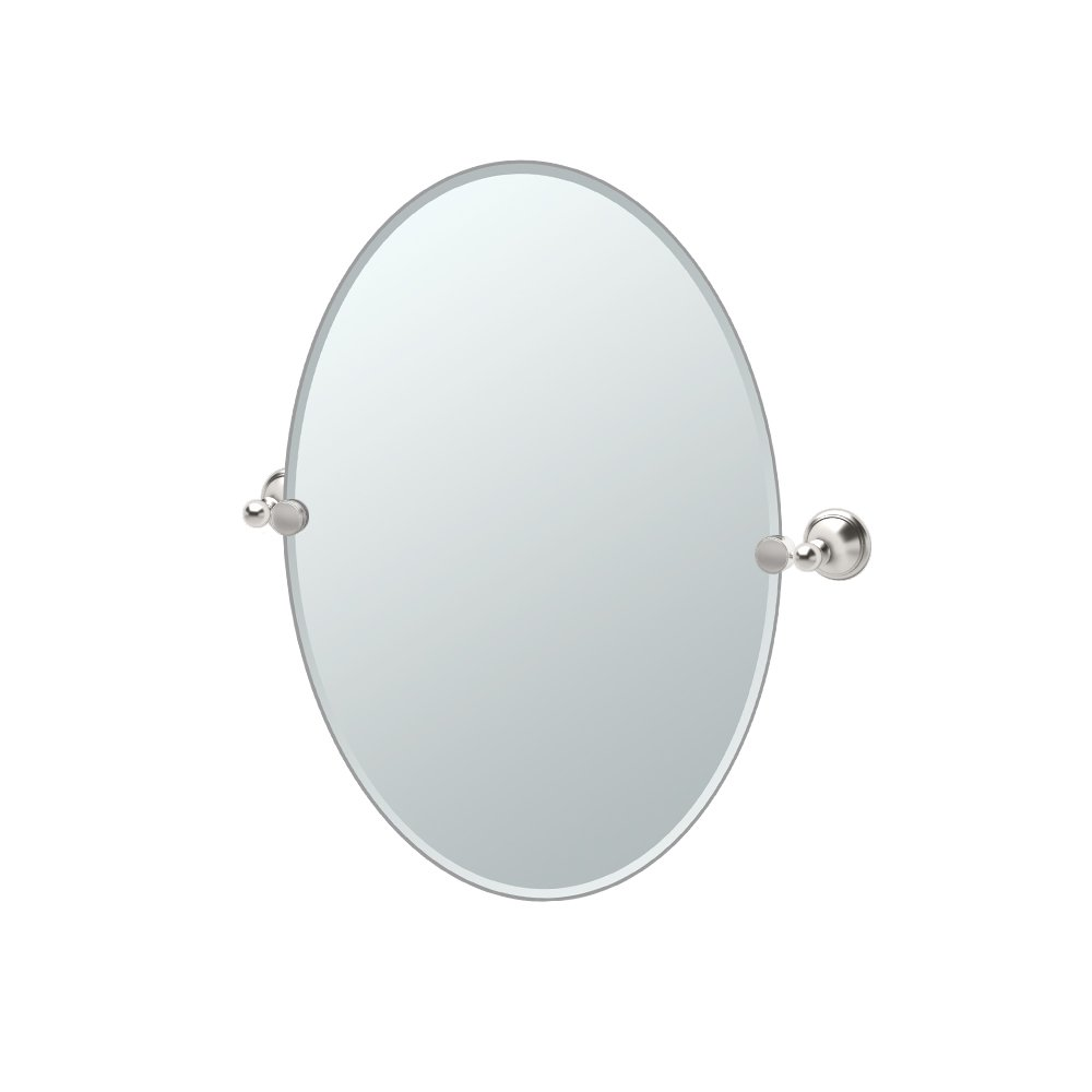 Gatco 4599 Laurel Ave. Oval Mirror, Satin Nickel