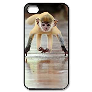 TOSOUL Customized Print Monkey Pattern Back Case for iPhone 4/4S
